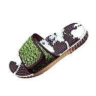 Tekstil-Flat hæl-Komfort-Tøfler og flip-flops-Friluft Fritid-Grå Grønn / Svart