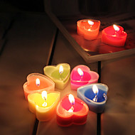 9Pcs Heart Candles Holiday Aromatherapy Candles Modern/Contemporary Romantic Home Decoration
