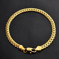 u7® visoke kvalitete 18k zrnasto zlato ispunjen upletena Figaro karici narukvicu za muškarce žene