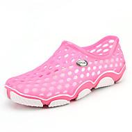 アウトドア カジュアル-オーダーメイド素材-フラットヒール-穴の靴 コンフォートシューズ ライト付きソール-サンダル-ピンク