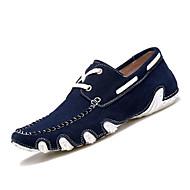 Mokaszin-Lapos-Női cipő-Félcipők-Szabadidős-Bőr-Kék Vörös Sötétbarna