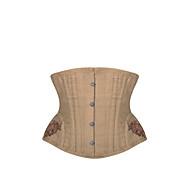Damen Unterbrustkorsett Nachtwäsche,Sexy Retro Jacquard-Polyester Mittelmäßig Damen