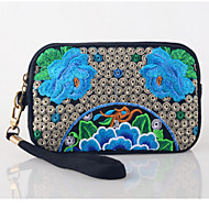 Women Bags All Seasons Linen Clutch with Sequin for Casual Outdoor Office & Career Blue Purple