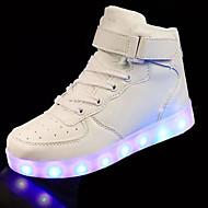 Jungen-Sneaker-Outddor Lässig-PU-Flacher Absatz-Light Up Schuhe-Schwarz Rot Weiß Silber Gold