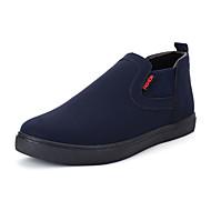 Lær-Flat hæl-Komfort-Treningssko-Friluft-Svart Brun Grå Mørkeblå