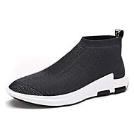 Herren-Sneaker-Outddor Lässig-Tüll-Flacher Absatz-Komfort Leuchtende Sohlen