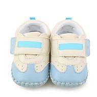 Kinderen Baby Platte schoenen Eerste schoentjes Wiegschoenen Kunstleer Lente Herfst Causaal Platte hak Zwart Lichtblauw Plat