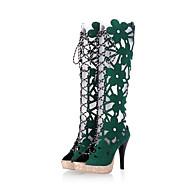 Femme-Habillé Décontracté Soirée & Evénement-Noir Jaune Rouge Vert-Talon Aiguille-Confort Gladiateur club de Chaussures-Bottes-Laine