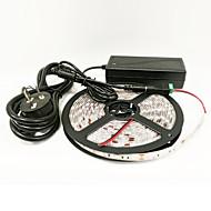z®zdm 16,4 ft (5 m) vodotěsné 72w 300ks 5050 5red 1blue / skupina LED strip rostlin s / 6a napájení ac100-265v 12v