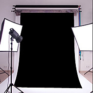 3X5FT black Thin Vinyl Photography Backdrop Studio Prop Photo Background