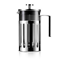 600 ml Rustfritt stål Glass French Press , Brew Coffee Maker Gjenanvendelige