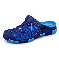샌들-야외 캐쥬얼컴포트 조명 신발 구멍 신발-맞춤 재질-플랫-브라운 블랙 / 그린 다크 그레이 라이트 그린