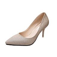Décontracté-Noir Argent Or-Talon Plat-Confort-Chaussures à Talons-Polyuréthane