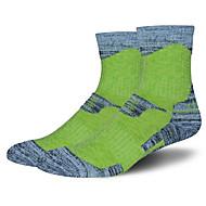 Sportsocken Damen Socken Herbst Winter Atmungsaktiv warm halten Schweißableitend Komfortabel Baumwolle Elastan Chinlon Grün Rosa Purpur