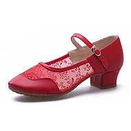 Na míru-Dámské-Taneční boty-Moderní-Koženka Krajka-Nízký podpatek-Černá Červená Stříbrná Zlatá
