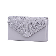 Women Satin Crystal Formal Event/Party Wedding Evening Bag Handbag Clutch