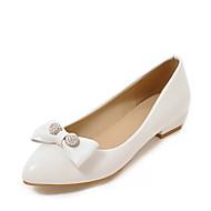 Cipele na petu Proljeće Ljeto Ostalo Umjetna koža Vjenčanje Formalne prilike Zabava i večer Niska potpetica Štras Mašnica Obala Crn Badem