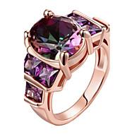 Pierścionki Codzienny Biżuteria Stal Pierscionek 1szt,8 9 10 Złoty Różowe złoto