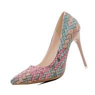 Extérieure-Bleu Rose Beige-Talon Aiguille-Confort-Chaussures à Talons-Polyuréthane