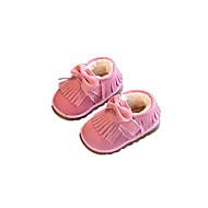תינוק שטוחות נוחות סוויד חורף קזו'אל הליכה נוחות סקוטש עקב שטוח שחור חום ורוד שטוח