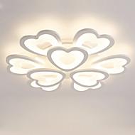 9 Heads Heart shaped Design Modern Style Simplicity LED Ceiling Lamp Metal Flush Mount Living Room light Fixture