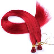 Perui legjobb minőség i tip hajhosszabbítás 1g / szál vörös i tip emberi haj kiterjesztések 100strand / tétel elfogadja az egyéni