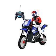 Motorcycle JJRC 1:16 Gas RC Car FM Blue Ready-To-Go Remote Control Car