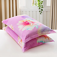 Virágos Paplan Cover állítja 2 darab Pamut Poli / pamut Minta Fonálfestett Pamut Poli / pamut 224x234 cm 2 db. párnahuzat