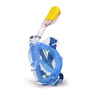 Maske zum Schnorcheln Schnorchel Sets Vollgesichtsmaske Tauchgerät Tauchen und Schnorcheln Kunststoff Silikon PVC Blau Schwarz Rot-WINMAX
