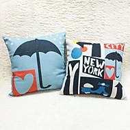 1 pcs Cotton/Linen Pillow Case Body Pillow Travel Pillow Sofa Cushion Novelty Pillow Pillow Cover,Geometric Still Life Cities