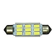 10x Festoon 42mm 9 5730 WHITE Car Interior LED No-polar 12V Dome Map Light Bulb 12V