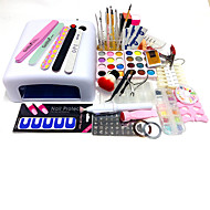 75Pcs Sets  Manicure Tools 818 Uv Lamp Powder Printing Plate Carve Patterns Suits Pen Type Dry Grinding Machine