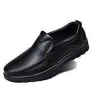 Herren Schuhe Leder Frühling Sommer Herbst Winter Komfort Modische Stiefel Loafers & Slip-Ons Walking Rüschen Für Normal Party &