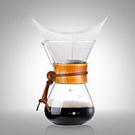 ml Tre Glass Kaffekjele , 3 kopper drypp Coffee Maker Gjenanvendelige