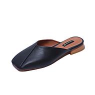 Damen Sandalen Komfort PU Sommer Normal Komfort Kombination Flacher Absatz Schwarz Beige Grau Grün Flach