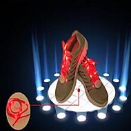laço brilhante com cadarços flash LED coloridos calçado desportivo rendas luminosos homens de cores fluorescentes e mulheres rodada corda
