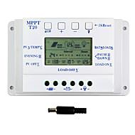 20a lcd napelemes töltésvezérlő 12V 24V AUTO.KAPCS kettős timer y-solar t20