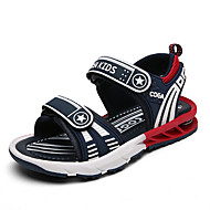Sandaler-Mikrofiber-Komfort Lysende sålerSort hvid Lysegrøn-Udendørs Fritid Sport-Flad hæl