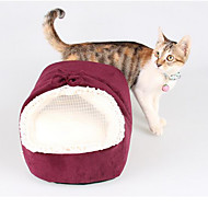 Cat Dog Bed Pet Mats & Pads Soft Red Green Fabric Cotton