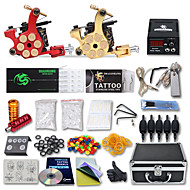 Kompletan Tattoo Kit 2 x lijevanog željeza tetovaža stroj za obloge i sjenčanje 2 Tattoo Machines LCD napajanja Tinte dostavljaju odvojeno