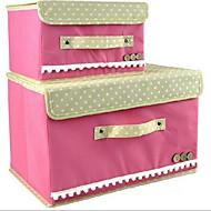 Коробки для хранения Единицы хранения Корзины для хранения Текстиль сОсобенность является Открытые , Для Бижутерия Бельё Ткань