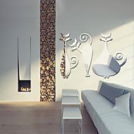 Zrcadlo Tvary Abstraktní Samolepky na zeď Křišťálové nástěnné samolepky Nálepky na zeď zrcadlové Ozdobné samolepky na zeď,Vinyl Materiál