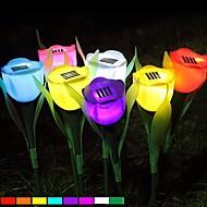 lumière romantique fleur tulipe solaire pelouse jardin cour extérieur lampe LED couleur aléatoire
