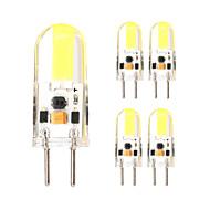 5pcs G6.35 1505 cob ac dc 12 v 3w 650 lm dobbelt nål vandtæt lim lysdæmper lampe