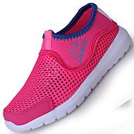 crianças das sapatilhas mola leve queda verão sapatos de conforto casamento tule casual ao ar livre salto baixo levou lace-up azul rosa