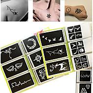 Glitter-tatuoinnit-OTHERS-Glitter-sabluuna-Paperi-Non Toxic KuvioMustaVauva Lapsi Naisten Girl Miesten Aikuinen Boy Teini