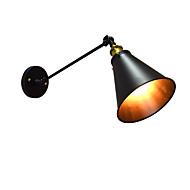 AC220V-240v 4W E27 led-valot surinaa maali yksiseinämäiseen rauta seinävalaisin tyhmä musta valomiekkaa lamppu seinään