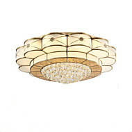 Full Copper  Crystal Ceiling Bedroom Living Room Crystal Ceiling Lamp E