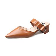 Dame Høye hæler Komfort PU Vår Sommer Avslappet Formell Komfort Spenne Lav hæl Beige Lysebrun 2,5 - 4,5 cm