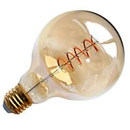 4W E26/E27 LED лампы накаливания G95 1 COB 400 lm Тёплый белый Декоративная AC 220-240 V 1 шт.